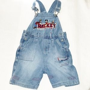 Mickey Mouse Denim Overalls